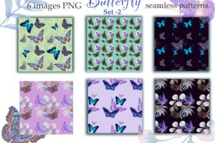 Print on Demand: Butterflies Decorative Paper Graphic Patterns By Marine Universe