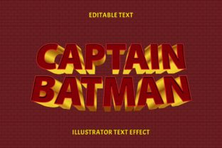 Print on Demand: CAPTAIN BATMAN EDITABLE TEXT EFFECT Graphic Layer Styles By 5amil.studio55
