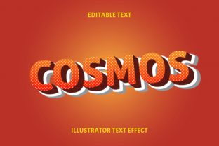 Print on Demand: COSMOS EDITABLE TEXT EFFECT Graphic Layer Styles By 5amil.studio55