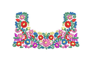 Colorful Bright Flowers Bouquets & Bunches Embroidery Design By Embroiderypacks