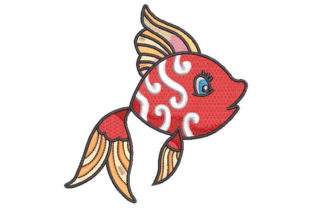 Colorful Fish Fish & Shells Embroidery Design By Embroiderypacks