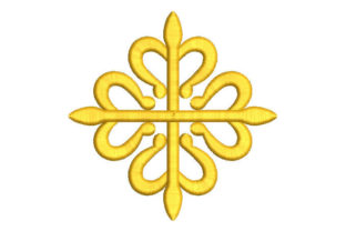 Heraldic Cross Work, Religion & School Embroidery Design By Embroiderypacks