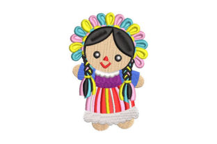 Maria Lele Mexican Doll Mexico Embroidery Design By Embroiderypacks