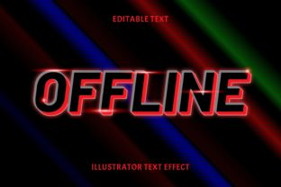 Print on Demand: OFFLINE EDITABLE TEXT EFFECT Graphic Layer Styles By 5amil.studio55