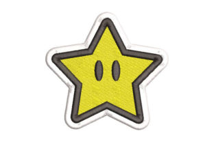 Star with Eyes Bed & Bath Embroidery Design By Embroiderypacks