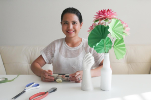 Making Lotus Flowers, Leaves, and Stems with Paper Classes By Deaney Weaney Blooms