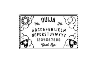 Black and White Ouija Board Designs & Drawings Craft Cut File By Creative Fabrica Crafts
