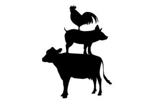Stacked Farm Animal Silhouette Farm & Country Craft Cut File By Creative Fabrica Crafts