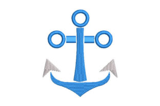 Anchor Beach & Nautical Embroidery Design By Embroiderypacks