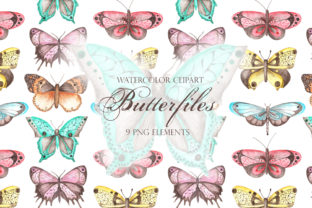 Butterflies Watercolor Clipart. Insects Graphic Illustrations By sabina.zhukovets