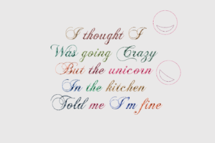 Print on Demand: I Thought I Was Going Crazy Animal Quotes Embroidery Design By setiyadissi