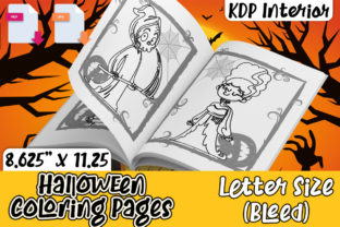 Print on Demand: KDP Halloween Coloring Pages Interior Graphic KDP Interiors By Karet Arts