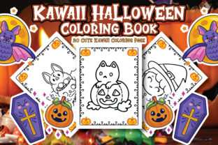 Print on Demand: Kawaii Halloween Coloring Book Graphic Coloring Pages & Books Kids By Alpha Coloring
