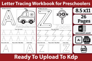 Letter Tracing Book Graphic Teaching Materials By kdpkawsarmia