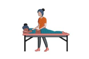 Massage Therapist at Work Work & Occupation Embroidery Design By Embroidery Designs