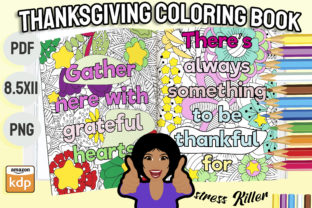 Print on Demand: Thanksgiving Coloring Book for Adults Graphic KDP Interiors By Funnyarti