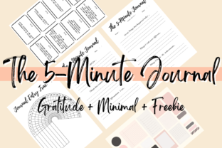 Print on Demand: The 5 Minute Gratitude Journal Graphic Print Templates By PoshPrintsByBee