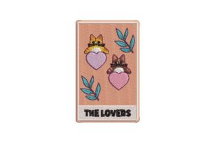 The Lovers Kawaii Style Tarot Card Games & Leisure Embroidery Design By Embroidery Designs