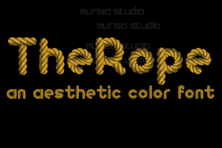 Print on Demand: The Rope Color Fonts Font By murisa.studio