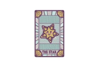 The Star Kawaii Style Tarot Card Games & Leisure Embroidery Design By Embroidery Designs