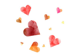 Watercolor Hearts Valentine's Day Craft Cut File By Creative Fabrica Crafts