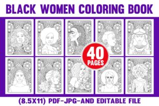 African American Black Women Coloring Graphic Coloring Pages & Books By Color Code