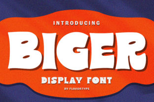 Print on Demand: Biger Display Font By flavortype