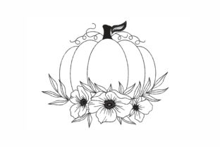 Floral Pumpkin Thanksgiving Embroidery Design By NinoEmbroidery