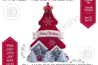 ITH Xmas Hanger Christmas Embroidery Design By CHICCAWORKSHOPSTORE