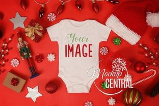 Onepiece Baby Bodysuit Christmas Mockup Graphic Product Mockups By Mockup Central