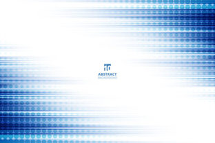 Print on Demand: Abstract Technology Blue Lines Motion Graphic Backgrounds By phochi