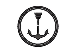 Anchor and Drill Beach & Nautical Embroidery Design By Embroidery Designs