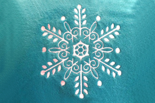 Delicate Ornate Snowflake Winter Embroidery Design By DesignedByGeeks