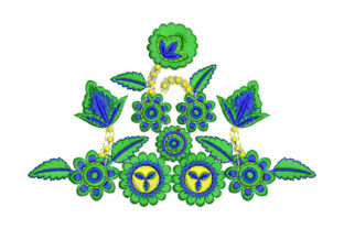 Flower with Leaves Bouquets & Bunches Embroidery Design By Alistudio
