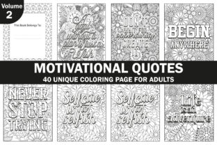 Motivational Quotes Coloring Book Pages Graphic Coloring Pages & Books Adults By Creative Design Studio