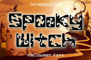 Print on Demand: Spooky Witch Display Font By Arkrist Letter Studio