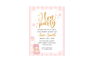 Hen Party Invitation Template Wedding Craft Cut File By Creative Fabrica Crafts