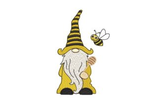 Print on Demand: Bee Kind Gnome Fairy Tales Embroidery Design By ArtEMByNatali