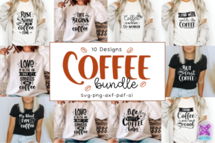 Coffee Quotes Svg Bundle, Cut Files Graphic Crafts By Rumi Designed