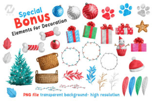Print on Demand: Cute Watercolor Dogs Christmas Costume Graphic Illustrations By nesdigiart 7