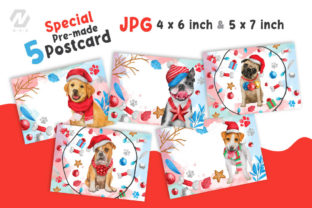 Print on Demand: Cute Watercolor Dogs Christmas Costume Graphic Illustrations By nesdigiart 8
