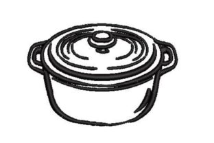 Dutch Oven Kitchen & Cooking Embroidery Design By Embroidery Designs