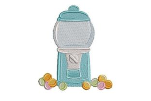 Empty Gumball Machine Toys & Games Embroidery Design By Embroidery Designs
