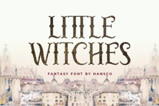 Print on Demand: Little Witches Display Font By HansCo
