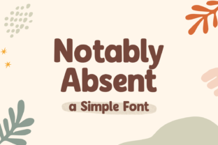 Print on Demand: Notably Absent Display Font By nhfonts
