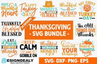 Print on Demand: Thanksgiving Svg Bundle Graphic Crafts By Designdealy