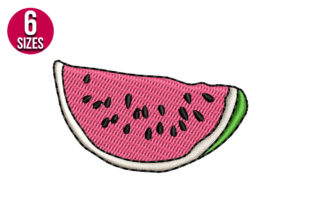 Print on Demand: Watermelon Food & Dining Embroidery Design By nationsembroidery