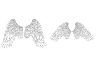 Print on Demand: 20 Feather Angel Wings Illustrustrations Graphic Illustrations By squeebcreative 10