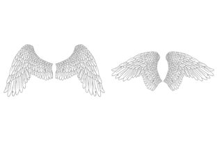 Print on Demand: 20 Feather Angel Wings Illustrustrations Graphic Illustrations By squeebcreative 11