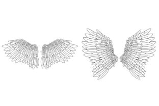 Print on Demand: 20 Feather Angel Wings Illustrustrations Graphic Illustrations By squeebcreative 5